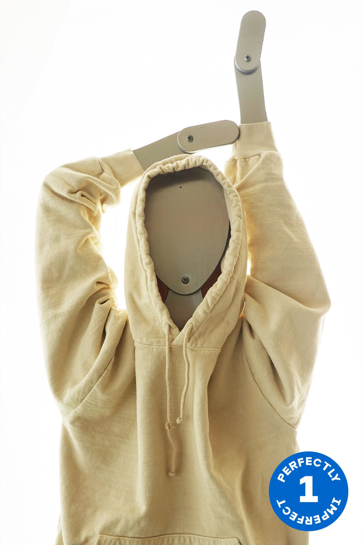 White & Cream Cotton Fleece Hoodies x 13