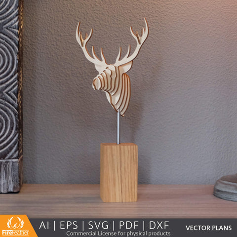 Deer Statue DIY vector project file - (Direct Download)