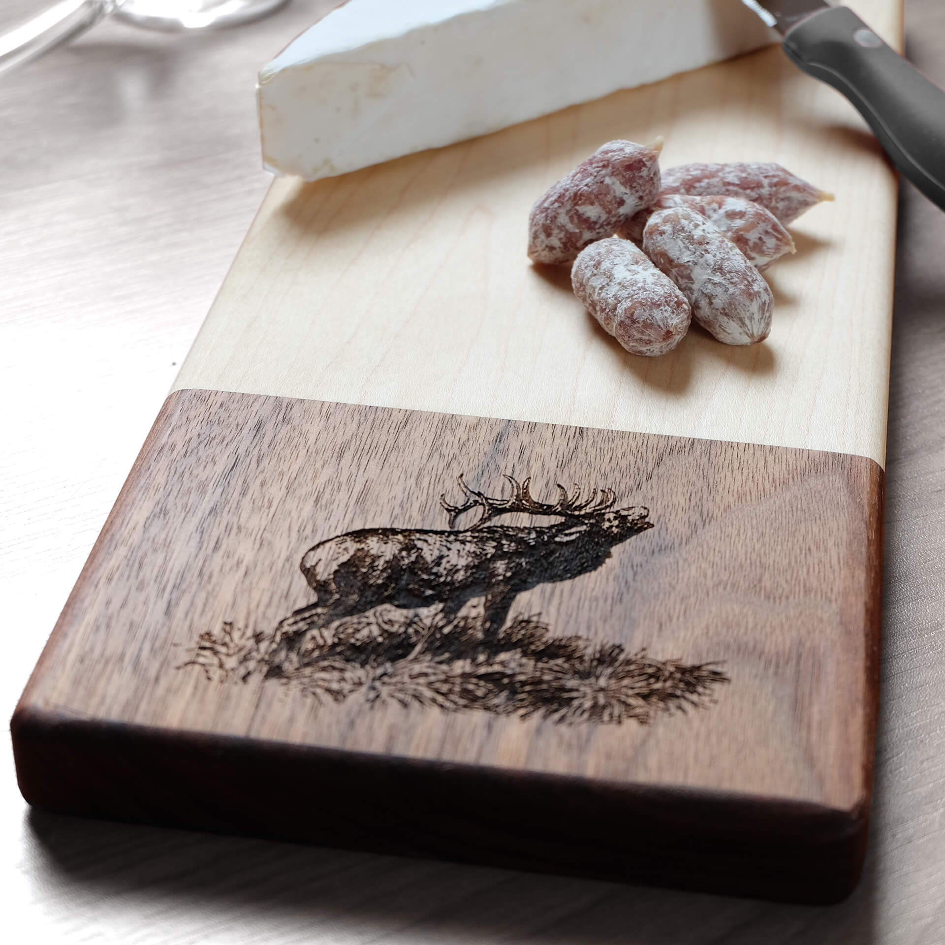 Serving board, Cheese Board, Cutting Board, Custom Animal Engraving - Fire Feather Designs