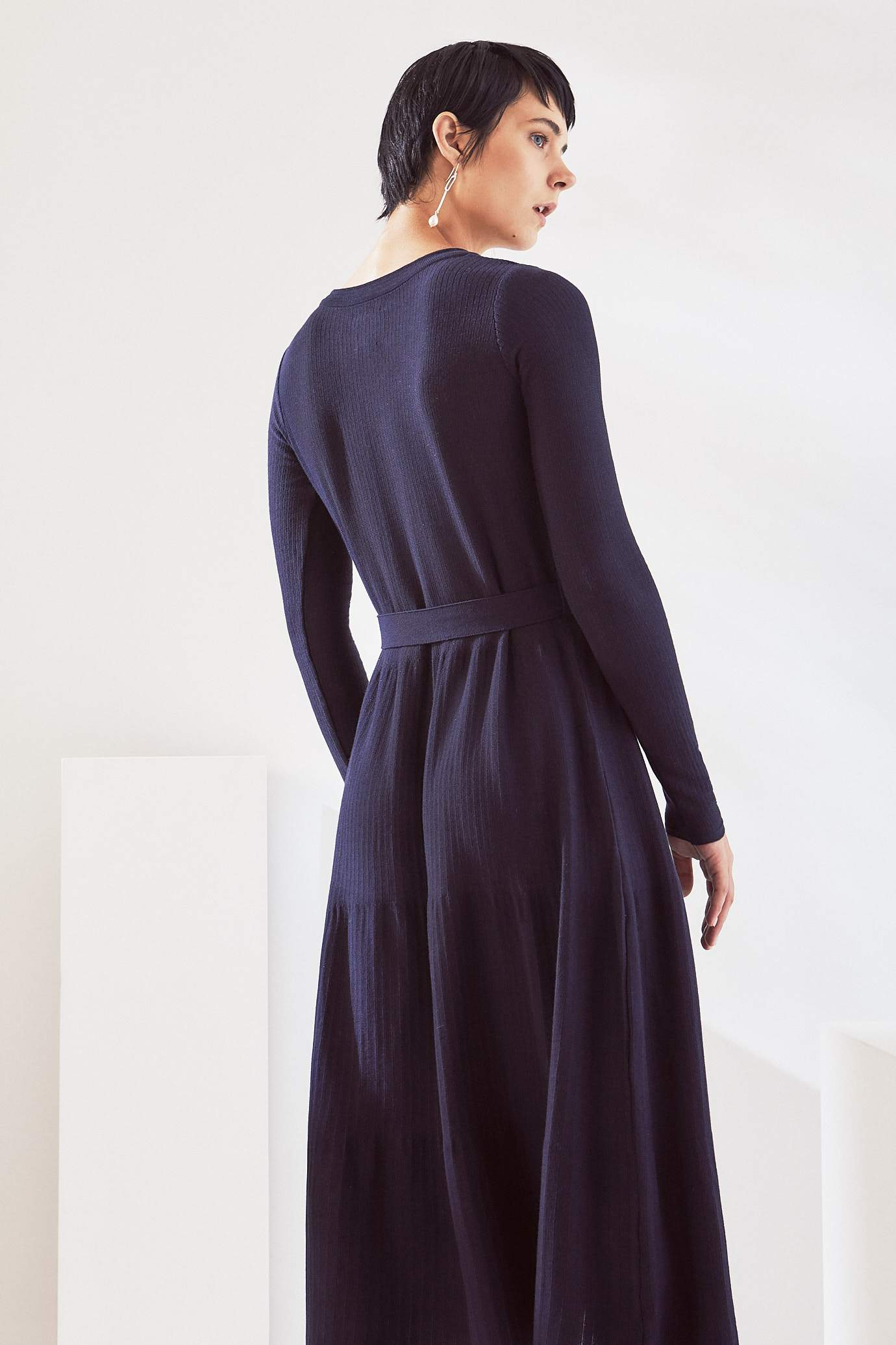 Long Sleeve Kaolin Dress