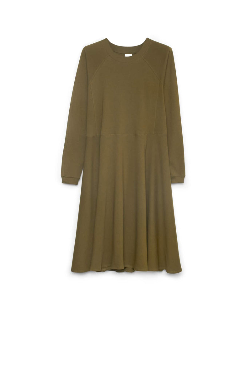 Panel Long Sleeve Dress