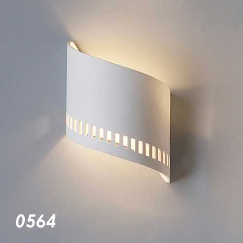 Ceramic Ribbon Home Theater Wall Sconce 9""
