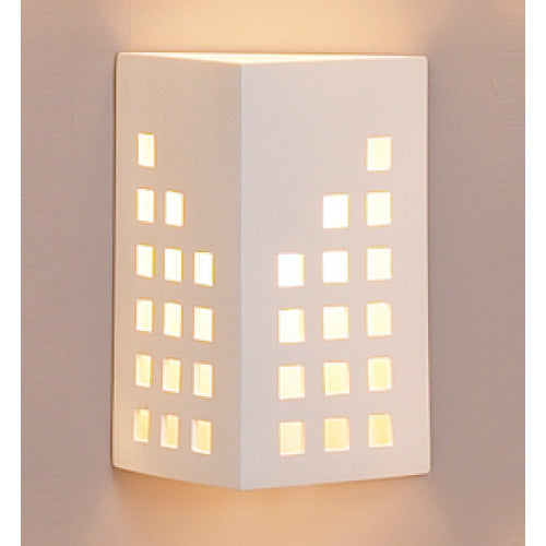 Cityscape Pyramid Home Theater Wall Sconce 10""