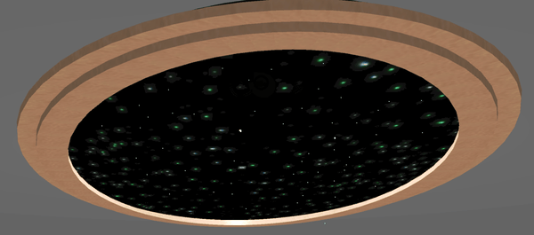 Fiber Optic Star Ceiling Oval Panel 4 ft with Trim