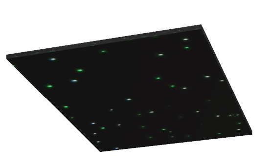 Fiber Optic Star Ceiling Panel 4 x 4 ft No Trim