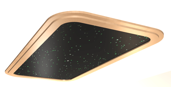 Fiber Optic Star Ceiling Panel 4 x 8 ft with Trim and Rounded Corners
