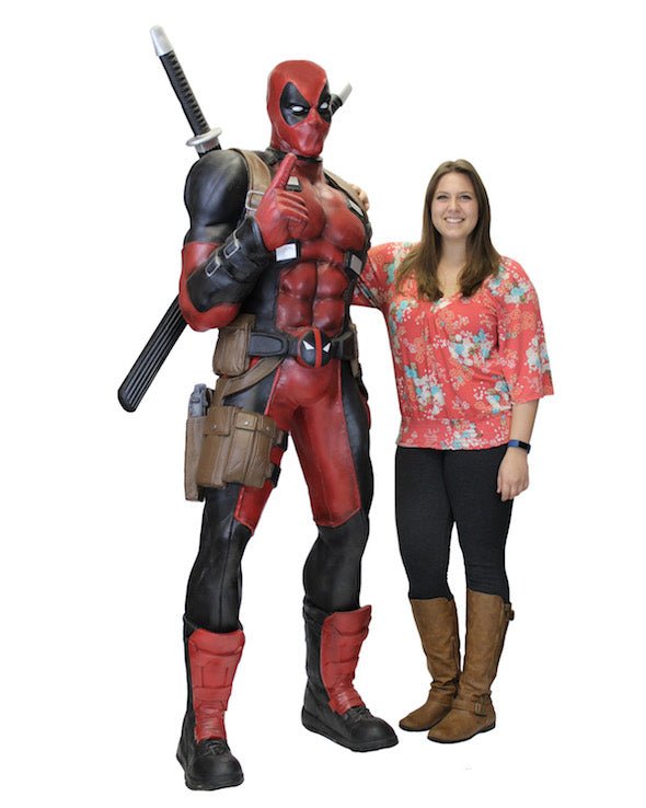 Life Size Deadpool Foam Replica from Marvel Classics