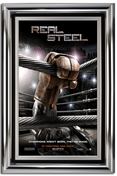 Bullnose Movie Poster Case - Polished Silver