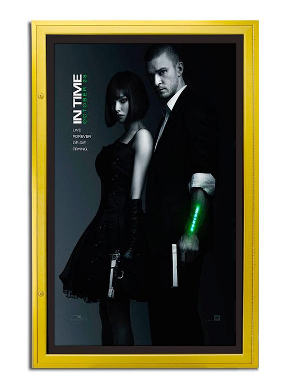Classic Series Rear Lit Movie Poster Case - Satin Gold