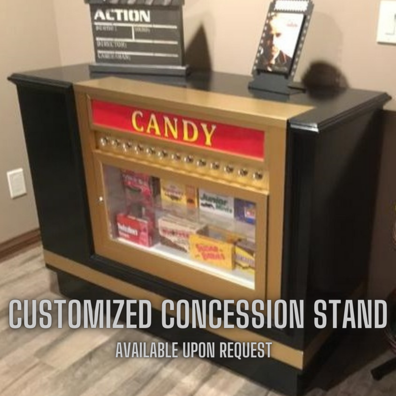 Home Theater Concession Stand with Candy Case
