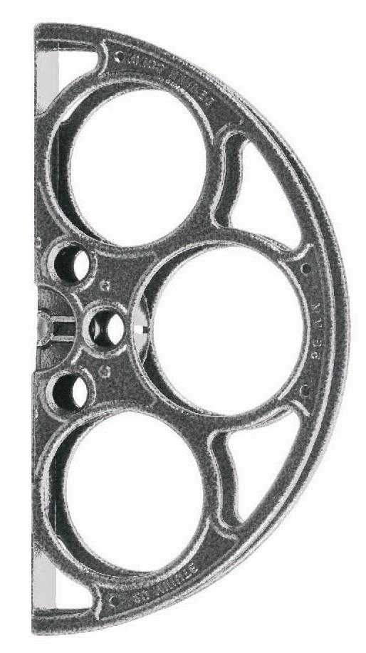 Silver Vein Film Reel Door Pull