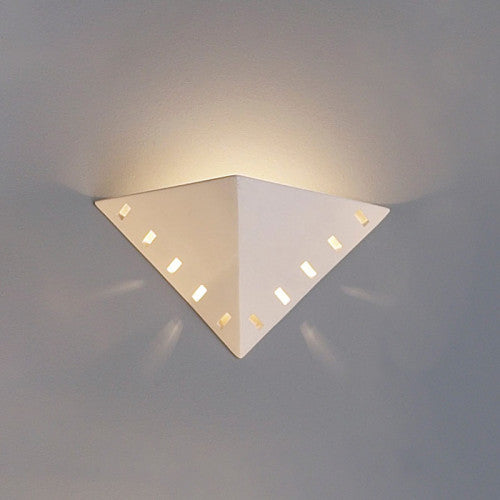 Vented Pyramid Home Theater Wall Sconce 14""