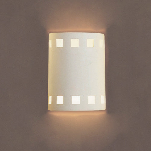 Square Pattern Home Theater Wall Sconce 7""