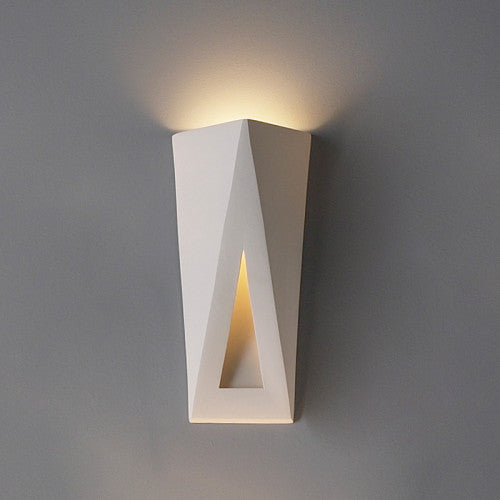 Topsy Triangle Media Room Wall Sconce 8""