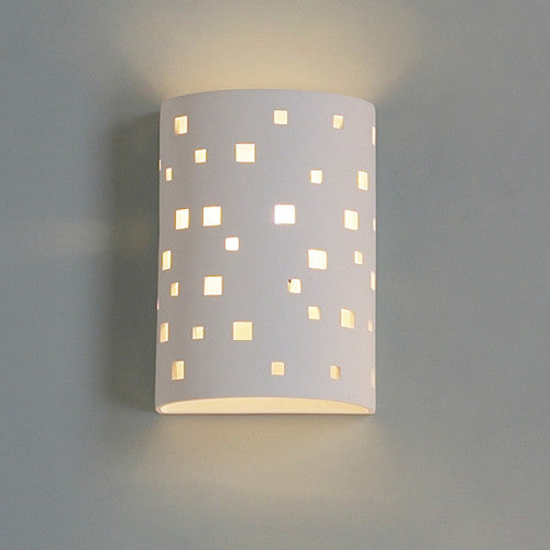 Small Square Pattern Home Theater Wall Sconce 9""