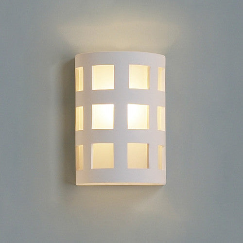 Large Square Pattern Home Theater Wall Sconce 9""
