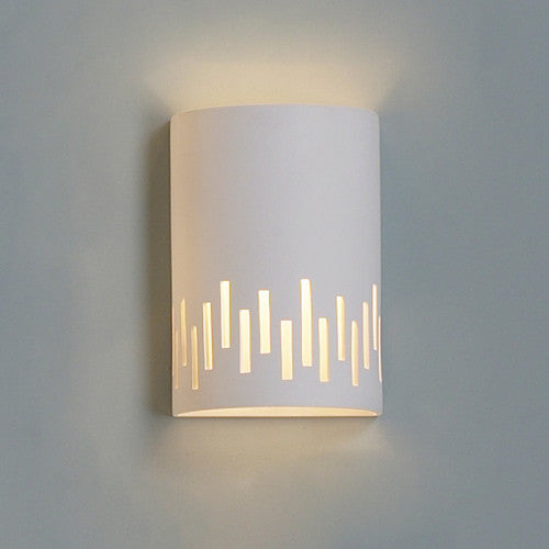 Staggered Lines Home Theater Wall Sconce 9""