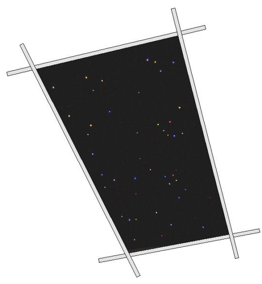 Fiber Optic Star Ceiling Tile 4 x 6 ft