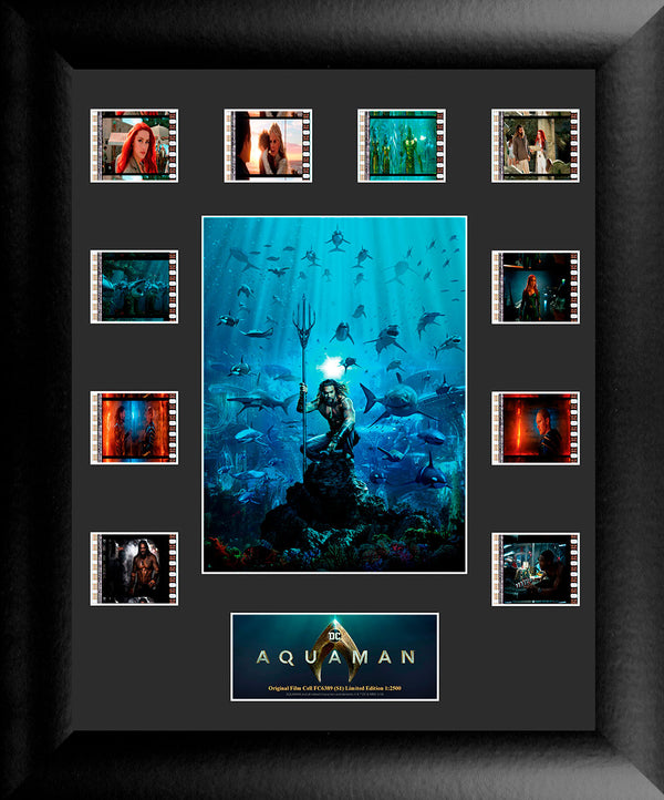Aquaman Film Cell Jason Momoa with Sharks