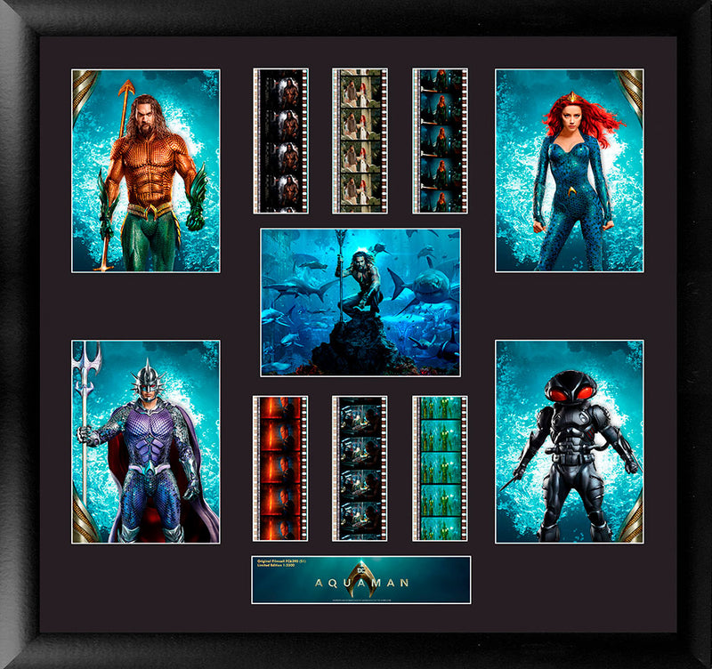 Aquaman Film Cell with  Aquaman, Mera, Black Manta and Ocean Master