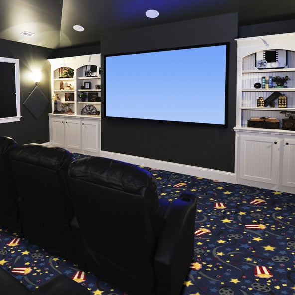 Feature Film Home Theater Carpet Burgundy