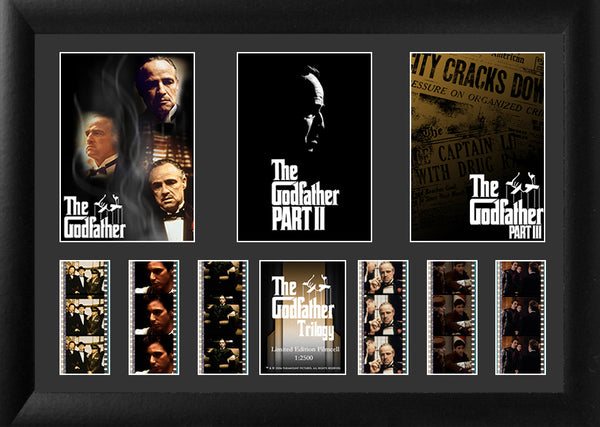 The Godfather Film Cell Triple Filmstrip
