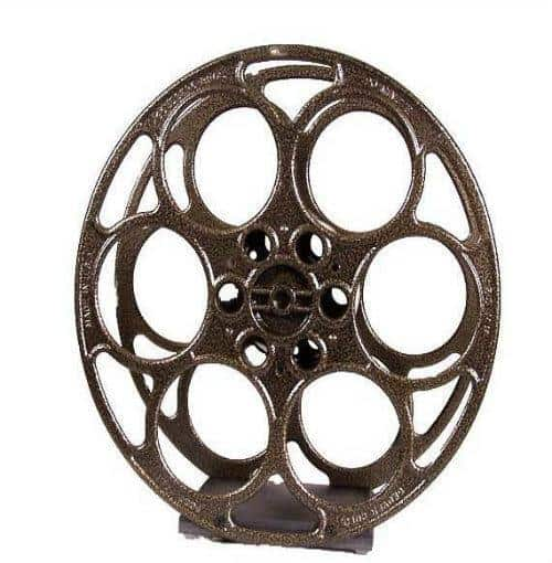 Gold  Vein Film Reel Wine Rack