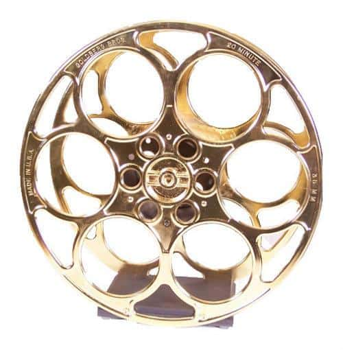 24k Gold Film Reel Wine Rack