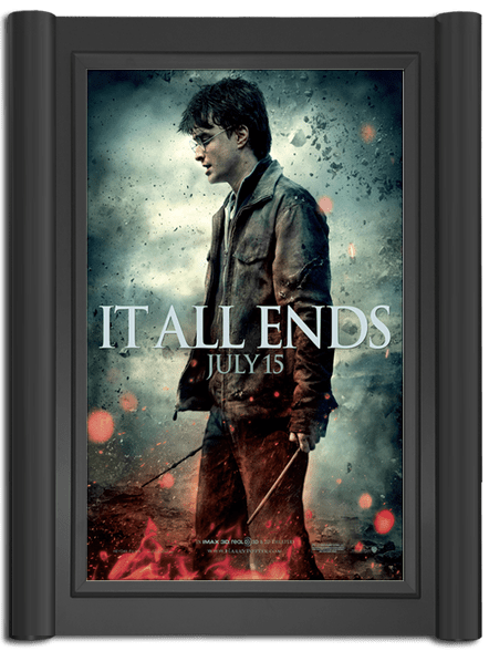 Grande Movie Poster Case - Black