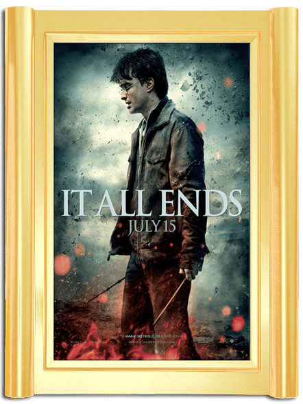 Grande Movie Poster Case - Polished Gold