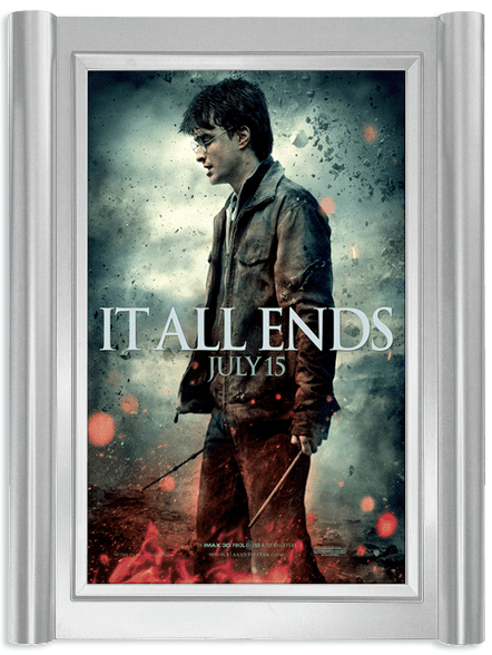 Grande Movie Poster Case - Polished Silver