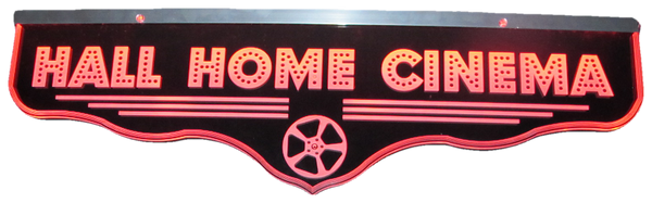 Home Cinema Personalized LED Sign Q