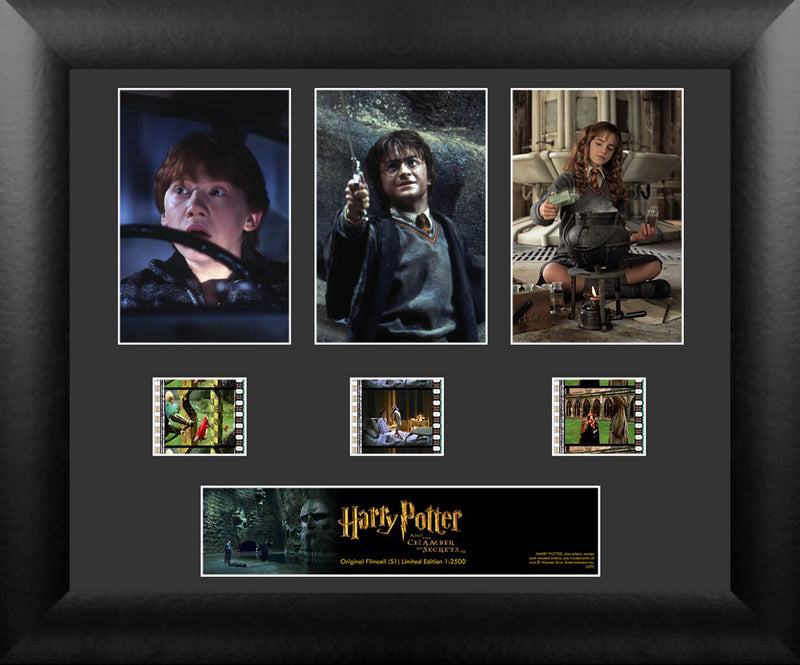 Harry Potter Film Cell -  Harry Potter and the Chamber of Secrets - Triple Filmstrip S1