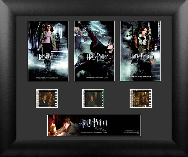 Harry Potter Film Cell -  Harry Potter and the Goblet of Fire - Triple Filmstrip S1