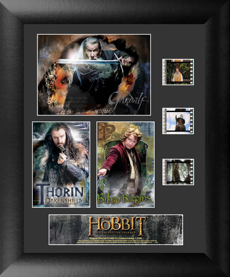 Hobbit An Unexpected Journey Film Cell - Triple Filmstrip S1