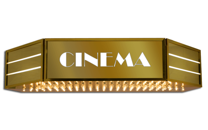 Hollywood Cinema Identity Sign