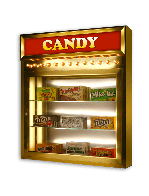 Home Theater Candy Case with Backlit Headliner