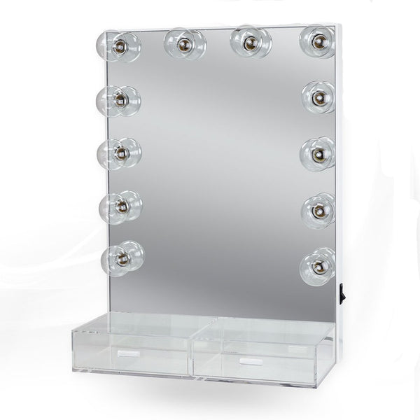 Crystal XL Dressing Room Mirror with Acrylic Drawers