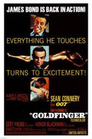 James Bond Goldfinger Movie Poster