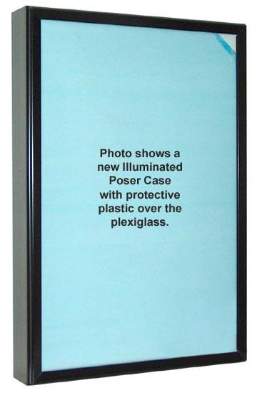 Lighted Movie Poster Case - with protective plastic over plexiglass