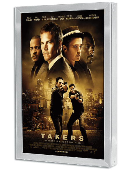 Posterlite Series Rear Lit Movie Poster Light Box - Polished Silver