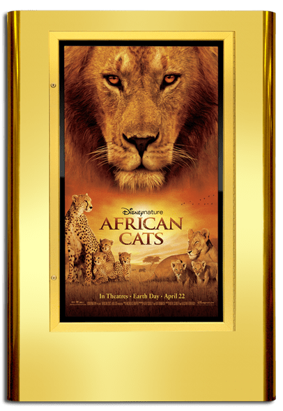 Regal Movie Poster Case - Polished Gold