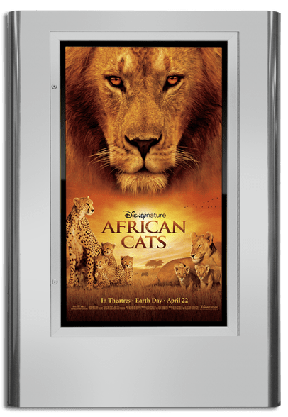 Regal Movie Poster Case - Polished Silver