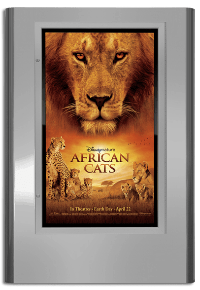 Regal Movie Poster Case - Satin Silver
