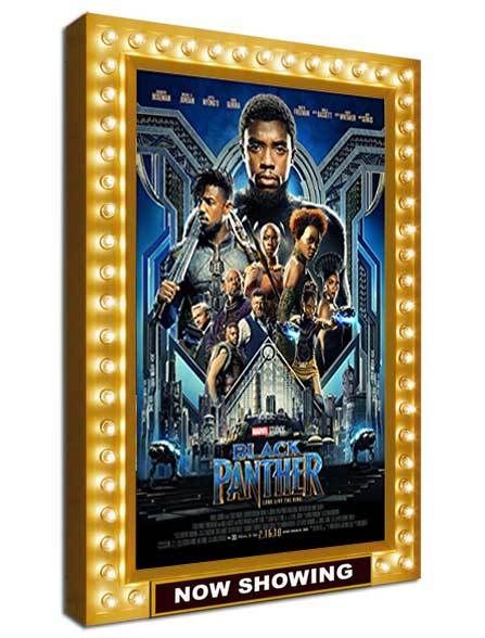 Premiere Series Rear Lit Movie Poster Light Box with Chase Lights - Satin Gold