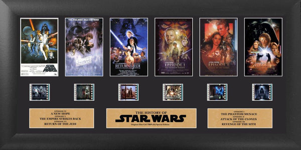 Star Wars Through the Ages Film Cell - (Ep1 - 6) Deluxe