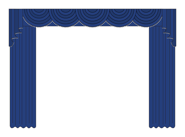 Cascade Swag Home Theater Curtains