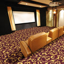 Acanthus Home Theater Carpet Navy