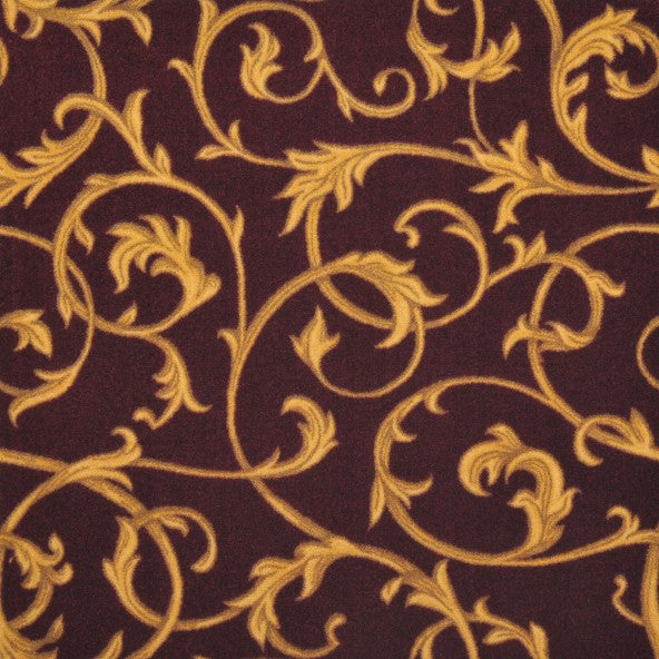 Acanthus Home Theater Carpet Burgundy
