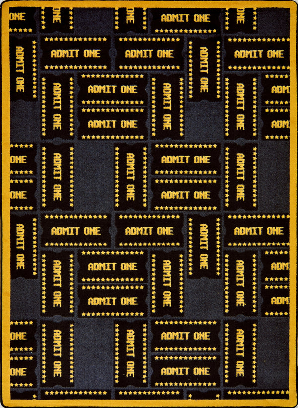 Admit One Home Theater Rug Black
